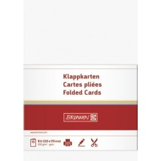 Carte double B6 200g bla 10pc