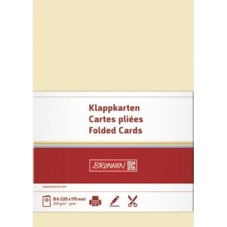 Carte double B6 200g cha 10pc