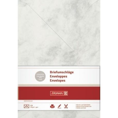 Enveloppe C5 marbr. gri 10pc