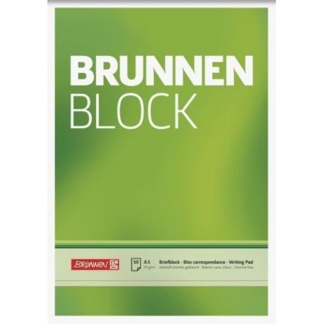 Bloc correspondance A5 BRUNNEN uni
