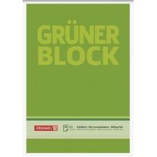 Bloc correspondance A5 Grüner uni