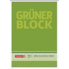 Bloc corresp A5 60g Grüner 5x5 50f