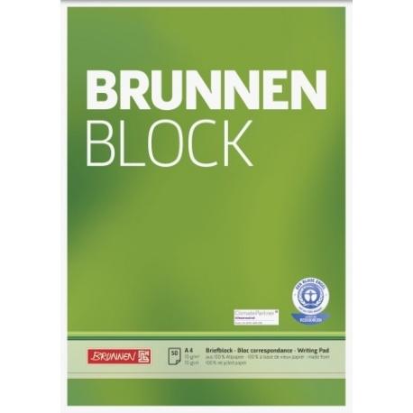 Bloc correspondance A4 recyclé uni