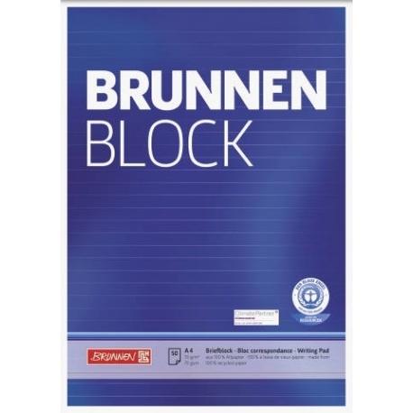 Bloc correspondance A4 recyclé lign