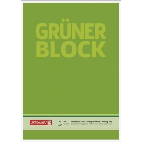 Bloc correspondance A4 Grüner uni