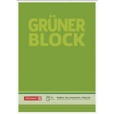 Bloc correspondance A4 Grüner ligné