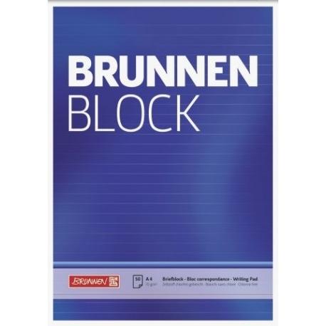 Bloc correspondance A4 BRUNNEN lign