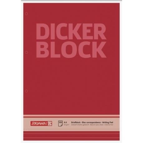 Bloc correspondance A4 4 trous lign