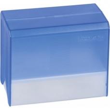 Boîte fichier A6 vide transp bleue