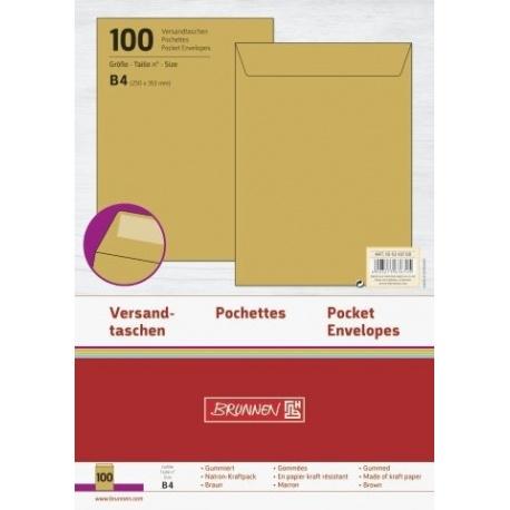 Pochette B4 110g marron 100pc
