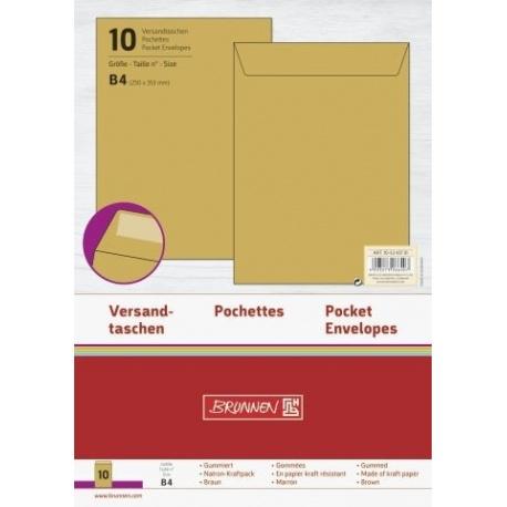 Pochette B4 110g marron 10pc
