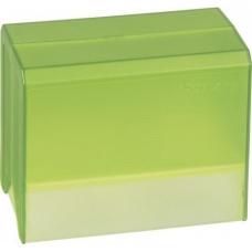 Boîte à fiches A6 vide transp verte
