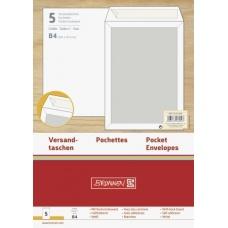 Pochette B4 120g cartonné blanc 5pc