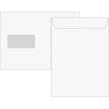 Pochette C5 fenêtre bla 25 pces