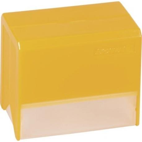 Boîte fichier A7 vide transp orange