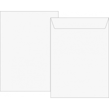 Pochette C5 auto-adh 90g blanc100pc
