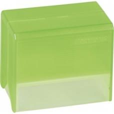 Boîte fichier A7 vide transp verte