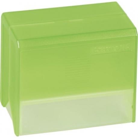 Boîte à fiches A7 vide transp verte