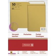 Pochette B4 soufflet130g marron50pc