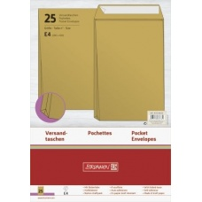Pochette E4 soufflet150g marron25pc