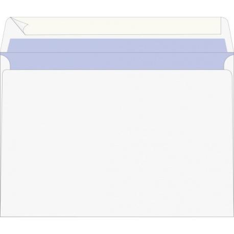 Enveloppe C6 autocoll blanche 25pc