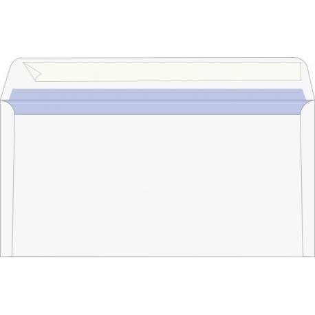 Enveloppe DL auto-adh.blanc 25pc