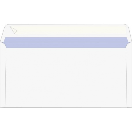 Enveloppe DL autoadh. blanche 25pc