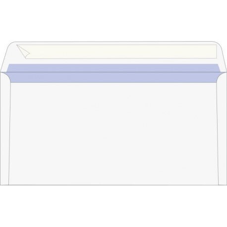 Enveloppe DL auto-adh.blanc 100pc