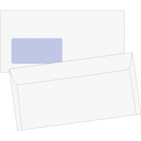 Enveloppe DL fenêtre auto-adh.100pc