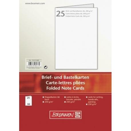 Carte pliée A6 250g blanc 25pc