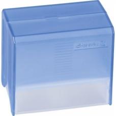 Boîte à fiches A8 garnie trans.bleu