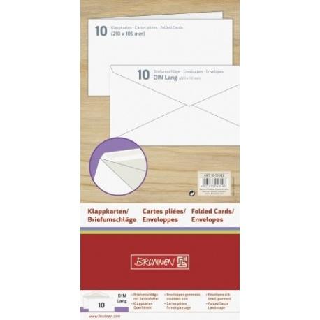 Carte pliée DLital250g env.dbl 10pc