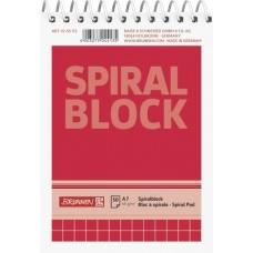 Bloc-notes spiralé A7 5x5mm 100p