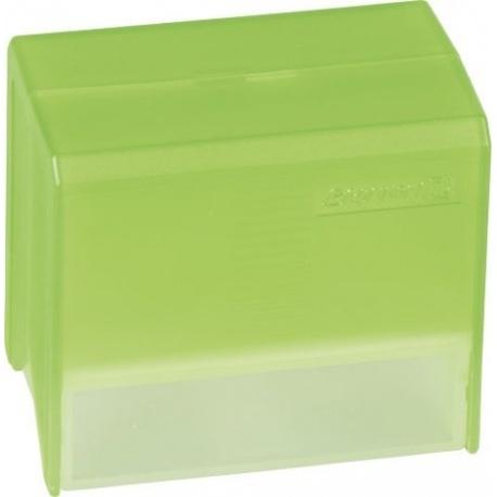Boîte à fiches A8 garnie trans.vert