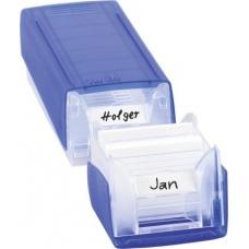 Boîte à fiches A8 Twinboxx bleu