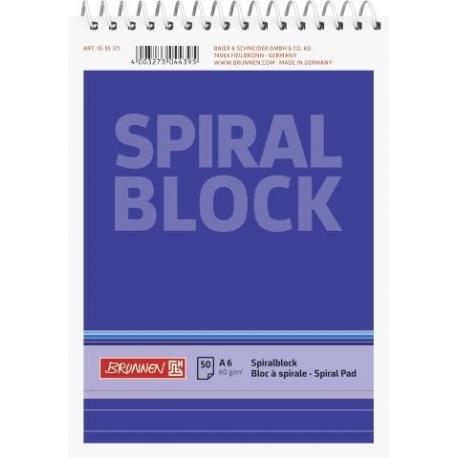 Bloc-notes spiralé A6 uni 100p
