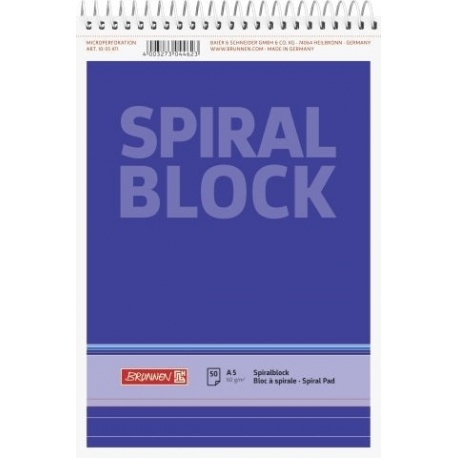 Bloc-notes spiralé A5 ligné 100p
