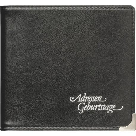 Répertoire 10x9,5cm SOFT noir 96p