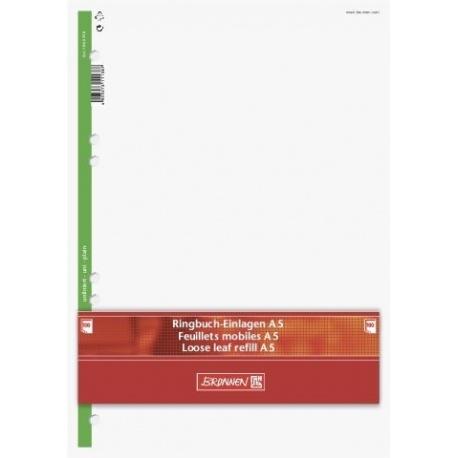 Feuillets mobiles A5 unis 200p