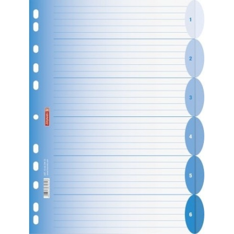Intercalaires A4 ColourCode 6p azur