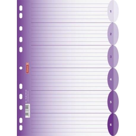 Intercalaires A4 ColourCode 6p purp