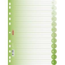 Intercalaires A4 12 pos. vert