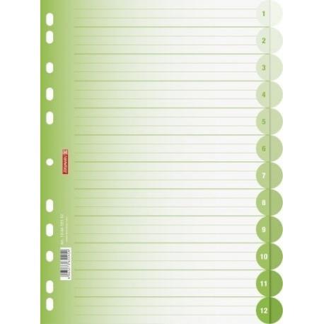 Intercalaires A4 ColourCode12p kiwi