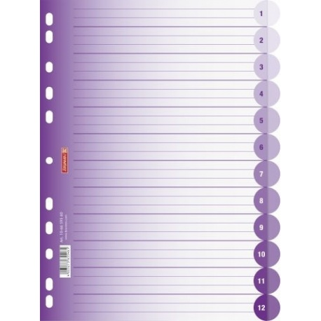 Intercalaires A4 12 pos. violet
