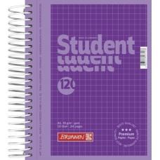 Cahier spir. A6 240p 5x5 purple
