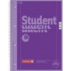 Cahier-recharge A4 CC ligné purple