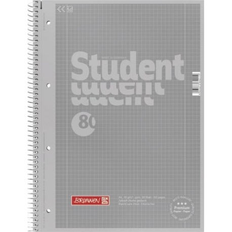 Cahier-recharge A4 CC 5x5 silver