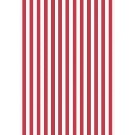 Papier crépon 50x250 rayures rouge