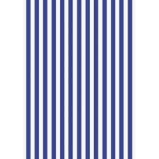 Papier crépon 50x250 rayures bleu