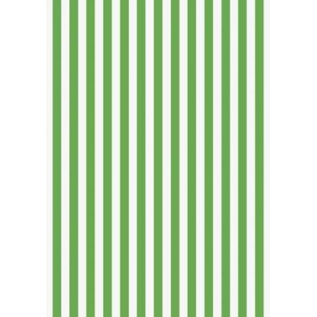 Papier crépon 50x250 rayures vert